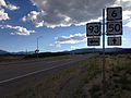 2014-08-09 17 36 18 View west along U.S. Routes 6 and 50 about 64.1 miles east of the Nye County line at the junction with U.S. Route 93 near Majors Place, Nevada.JPG