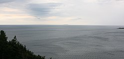A view of the Cabot Strait from White Point, Cape Breton Island. St. Paul Island is visible in the distance.