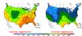 2015-10-23 Color Max-min Temperature Map NOAA.png