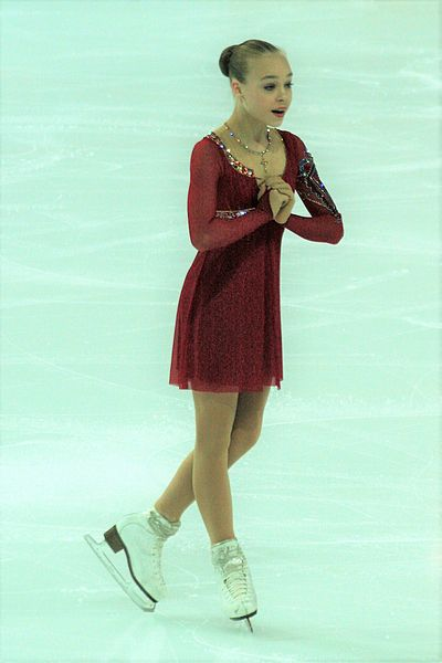 Anastasiia Gubanova had scored twice above 194 points. She had scored twice above 129 points in free skating. She was the first junior lady ever to score above 130 points in free skating but Alina Zagitova broke that record less than 10 minutes later.