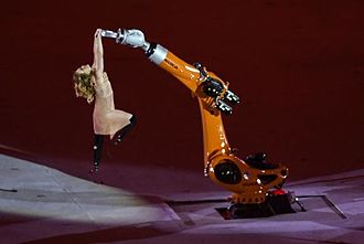 2016 Summer Paralympics opening ceremony - Amy Purdy dances alongside a robotic arm.