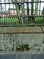 2016 Woolwich, Woolwich New Rd, old fencing 03.jpg