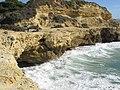 2018-01-01 Cliff footpath at the west end of Praia dos Aveiros, Albufeira (2).JPG