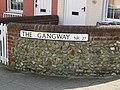 2018-04-22 Street name sign, The Gangway, Cromer.JPG