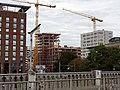2019-10-20 Neubau der Volksbankzentrale in Freiburg, Blick von der Stühlingerbrücke.jpg