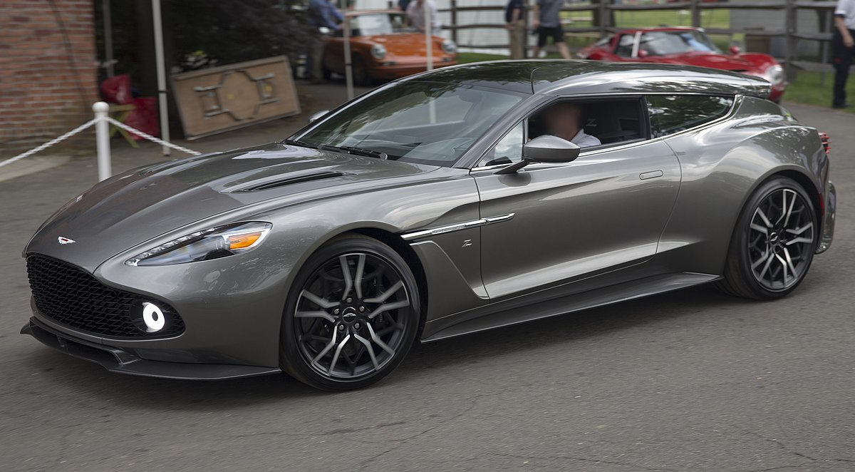 What Is Transmission >> File:2019 Aston Martin Vanquish Zagato Shooting Brake no 73 at Greenwich 2019, front left.jpg ...
