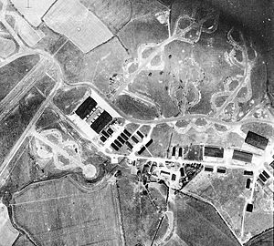 RAF Stansted Mountfitchet -  Aerial photograph of the USAAF 2d Tactical Air Depot oriented north, located to the northeast of the Stansted Mountfichet Airfield 8 May 1948