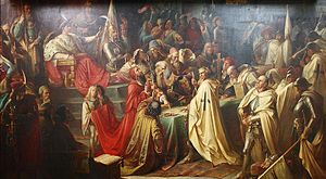 Second Peace of Thorn (1466) - Second Peace of Toruń, painting by M. Jaroczyński, 1873, District Museum in Toruń