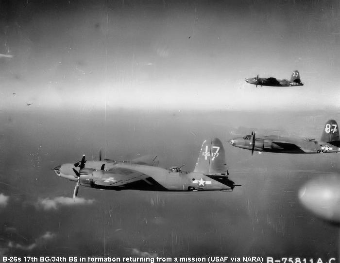 34th Bombardment Squadron 17th BG B-26 Marauders - about 1943