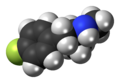 4-Fluoromethamphetamine molecule spacefill.png