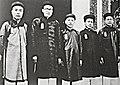 5 vị Thượng thư từ trái qua phải Hồ Đắc Khải, Phạm Quỳnh, Thái Văn Toản, Ngô Đình Diệm, Bùi Bằng Đoàn.jpg