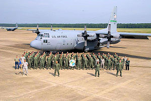 61st Airlift Squadron - 61st Airlift Squadron C-130 and personnel