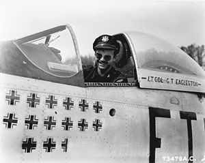 Glenn T. Eagleston - Eagleston in his P-51 Mustang