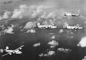 "90th Operations Group - ""Jolly Rogers"" of the 90th Bombardment Group on a mission, 1943"