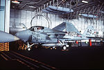 A-6E of VA-42 in hangar of USS Eisenhower (CVN-69) 1992.JPEG