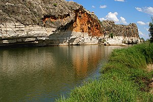 Fitzroy River (Western Australia) - Fitzroy River flowing through Geikie Gorge