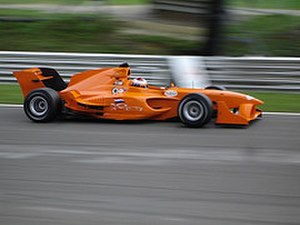 Jos Verstappen - Verstappen driving for A1 Team Netherlands.