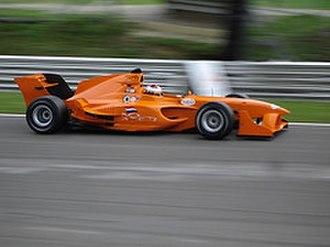 Jos Verstappen - Verstappen driving for A1 Team Netherlands.