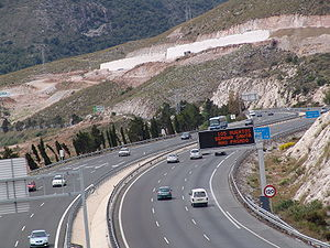 Autovía A-7 - Image: A7 Benalmádena
