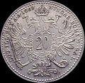 AHG aust 20 kreuzer 1869 reverse.jpg