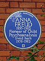 ANNA FREUD 1895-1982 Pioneer of Child Psychoanalysis lived here 1938-1982.jpg
