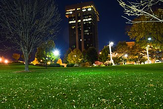 Springfield, Missouri - The Hammons Tower as seen from Jordan Valley Park
