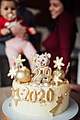A cake celebrating twentyninth birthday with numbers of the year 2020 on it (49384101623).jpg