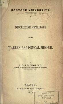 A descriptive catalogue of the Warren Anatomical Museum.djvu