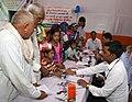 "A free health camp organised at the ""Deen Dayal Upadhyay Krishi Unnati Mela-2017, at Pandit Deen Dayal Dham, in Farah, Mathura, Uttar Pradesh on September 22, 2017.jpg"