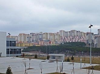 Çankaya University - A view of the Turkuaz Valley (Turkish: Turkuaz Vadisi) from Çankaya University Turkuaz Campus