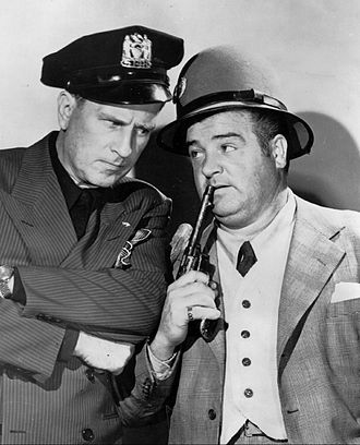 Abbott and Costello - Abbott (left) and Costello (right) circa 1940s.