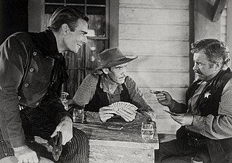 Abilene Town - L-R: Randolph Scott, Richard Hale and Edgar Buchanan