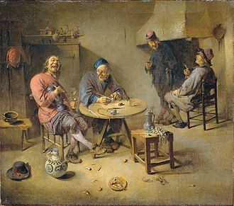 Abraham Diepraam - The Barroom, painted in 1665.