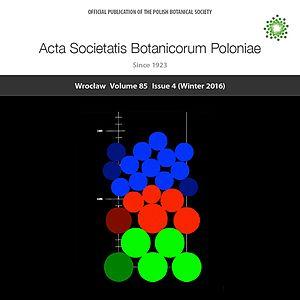 Acta Societatis Botanicorum Poloniae - Image: Acta Societatis Botanicorum Poloniae Vol. 85 No. 4 cover
