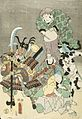 Actors as Otsu-e figures Fukurokuju and Benkei LACMA M.2006.136.222.jpg