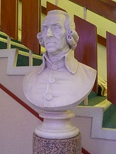 Bust of Smith in the Adam Smith Theatre, Kirkcaldy Adam Smith bust, Adam Smith Theatre, Kirkcaldy.JPG