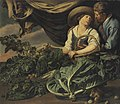 Adriaen van Utrecht and Theodoor Rombouts - Amorous couple with lettuce, artichokes, peas and other vegetables, with a squirrel.jpeg