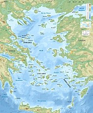 Aegean Sea map bathymetry-fr.jpg
