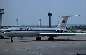 Aeroflot accidents and incidents in the 1980s - An Aeroflot Il-62M at Orly Airport, Paris, France. (1977)