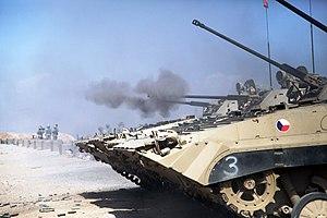 Army of the Czech Republic - Czech BVP-2 firing in Afghanistan