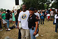 African American couple smiling in the crowd - 50th Anniversary of the March on Washington for Jobs and Freedom.jpg