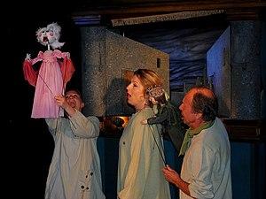 Agder Teater - Image: Agder teater Prinsessen på erten 2013 1