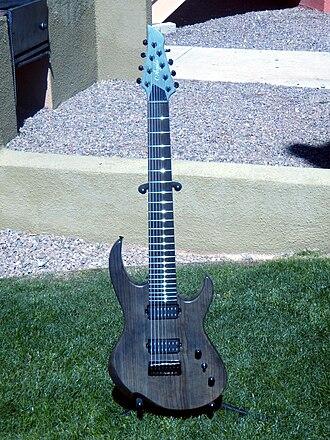 Eight-string guitar - Agile Intrepid