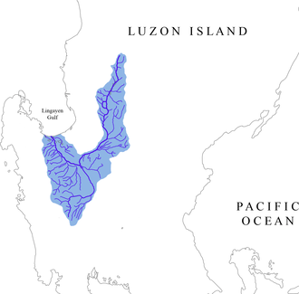 Agno River - Image: Agno river watershed