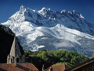Dents du Midi mountain in Switzerland
