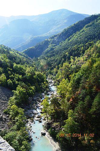 Aiglun, Alpes-Maritimes - The Estéron river