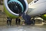 AirBaltic Bombardier CS300 mainenance (32406528563).jpg