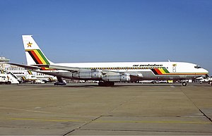 Robert Gabriel Mugabe International Airport - Boeing 707-330B at Harare Airport in 1992.