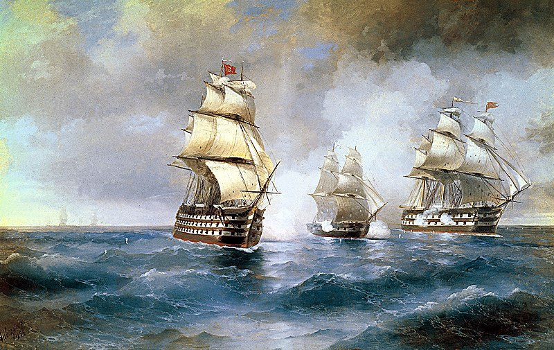 Project 20836 Derzkii-class Corvette/Frigate - Page 9 800px-Aivazovsky%2C_Brig_Mercury_Attacked_by_Two_Turkish_Ships_1892