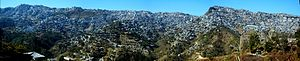 Aizawl - A panorama of Aizawl taken from Zemabawk, Aizawl